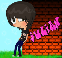 Julian Human Disguise by InvaderAndrea