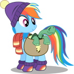 Rainbow Dash and Tank by seahawk270