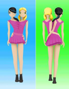 Conjoined twins WalkCycle animation by fgg22