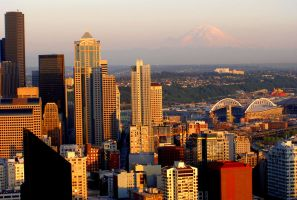 Seattle Sunset by 472