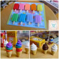 New Ice Cream miniatures for 2016 by LittlestSweetShop