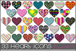 33 Heart Icons by princessang2644