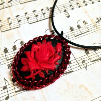 Victorian Red Rose Cameo by Utopia-Armoury