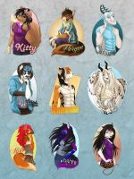 Anthro Badges by Plaguedog