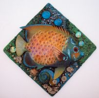 Tropical Fish Mosaic Tile by MandarinMoon