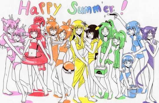 Summer Girls by Ringo-Mikan