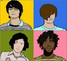 Julian Opies Style Bloc Party by LLJB