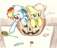 Halloween Fillies by Punk-Pegasus