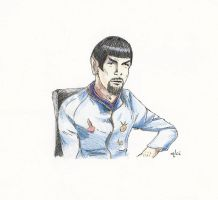 The softer side of Mirror Spock by AloiInTheSky