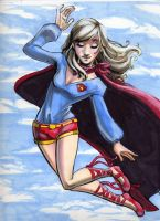 Convention Sketch: Supergirl by RenaeDeLiz