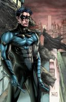 Nightwing 2014 Colors Blue by hanzozuken