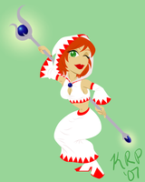 FF Pinup: :I: White Mage by KatChan00