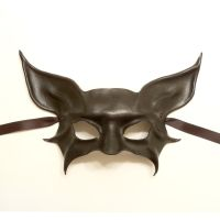 Black Leather Mask Bat or Cat animal creature by teonova