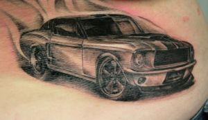 Mustang 66 Tattoo by 2Face-Tattoo