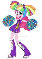 Pinkie Pie EqG Cheerleader by Luuandherdraws