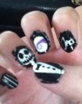 Nightmare Before Christmas Nail Art 2 by peaceloveandunicorns