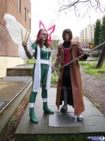 Rogue and Gambit by abisue