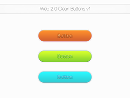 Clean Web 2.0 Buttons v1 by TheBlacklightX