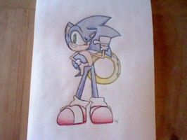 Sonic The Hedgehog - .:Colored:. by Wolfiisaur