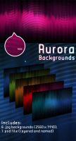 Aurora Backgrounds by Hardgamerpt