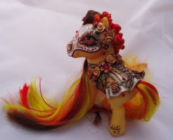 My little pony custom Dia de muertos Gabriela by AmbarJulieta