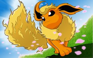 Flareon. by moxie2D
