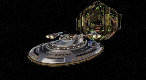 Undocking from the assimilated Deep Space Nine by tj-hawk