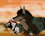 Art Trade - Wastelands by Solitaire-Loup