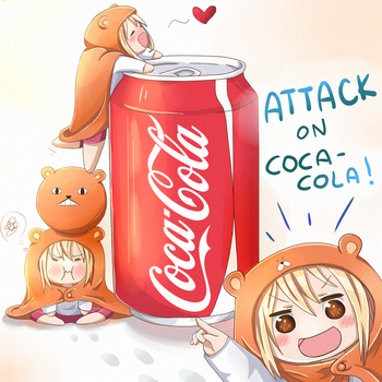 Himouto! Umaru-chan Attack on Coca-Cola! by 0les-x