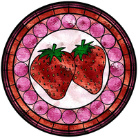 Strawberry Stained Glass Window by FluidGirl82
