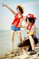 We Fight Together - Portuguese D. Ace Fem!Luffy by EduardLuzhetskiy