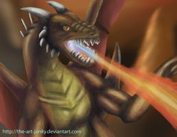 fire dragon by the-art-junky