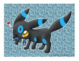 shiny Umbreon and Lucario by Isi-Daddy