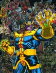 Thanos Triumphant - The Infinity Gauntlet by corvus1970