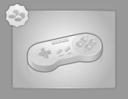 SNES Pad by Silver-PyroTech
