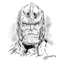Thanos sketch by Steele67