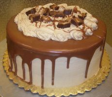 Snickers Cake by zoro-swordsman