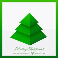 Xmas Tree Design Free Vector by vecree