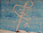 Rukia's Sword Painting by MoeArtMonster