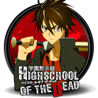 High School Of The Dead Circle Icon by Knives by knives1024