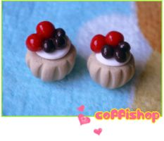 Chocolate cherry mini pastry by coffishop