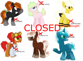 MLP- AUCTION adoptables (CLOSED) by Psycho-CandyAddicted