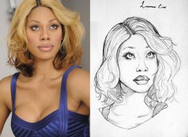 Laverne Cox by TopHatTruffles
