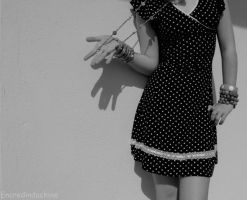 Ombre et Robe a Pois. by encredindochine