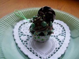 Mint Chocolate Chip cupcake by kawaiifriendscafe