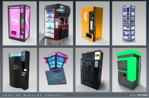 Aenigma - Vending Machine Concept Art 1 - Mid by W-E-Z
