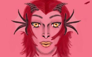 Red Dragon Lady by TheRoyalCrow