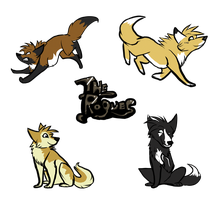 The Rogues Stickers by Ghulhund