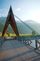 Bridge over the River Lech by steppeland