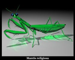 Glass Mantis by joshpurple